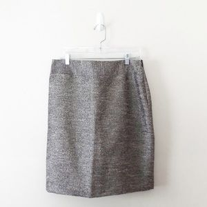 NWT Banana Republic Metallic Pencil Skirt Career